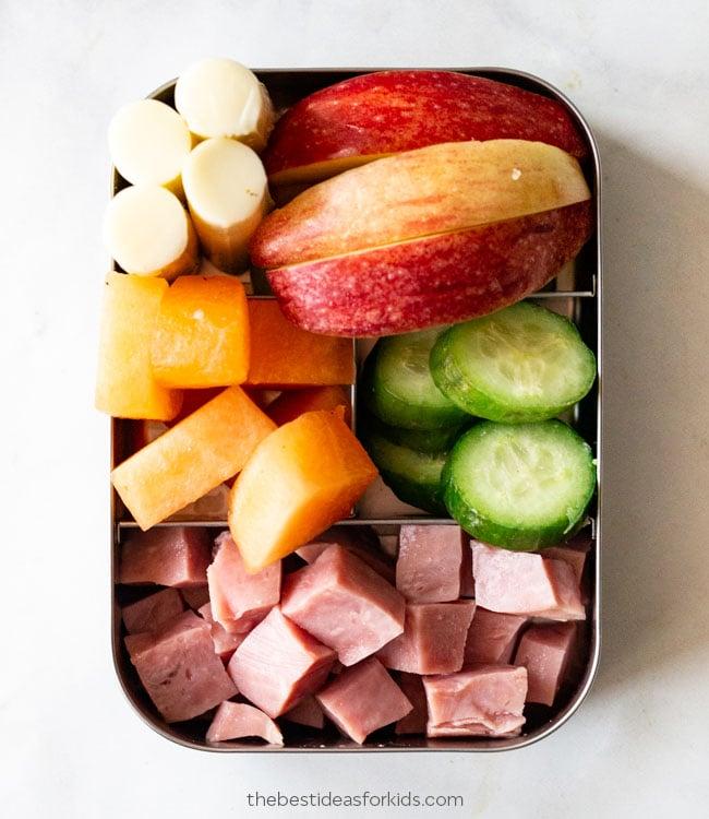 Ham Cheese & Melon Lunch Box Ideas