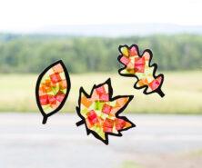 Leaf Suncatcher Craft