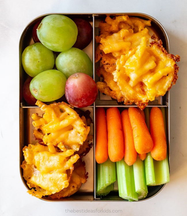 Mac and Cheese Bites Lunch Box
