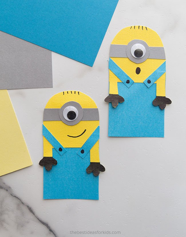 Minion Bookmark Hug Craft