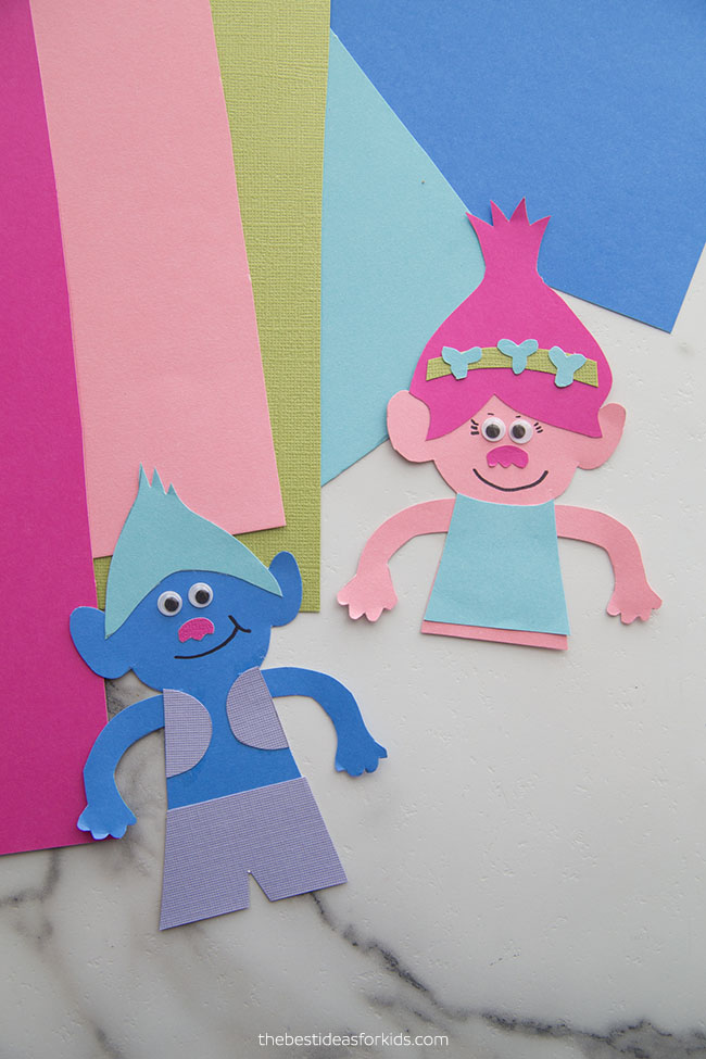Poppy Trolls Craft Bookmark