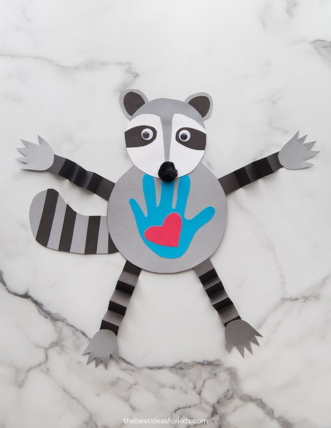 Raccoon Kissing Hand Craft