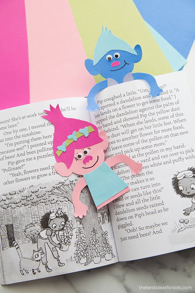Trolls Bookmark Craft