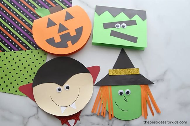 Handmade Halloween Cards With Free Templates The Best Ideas For Kids