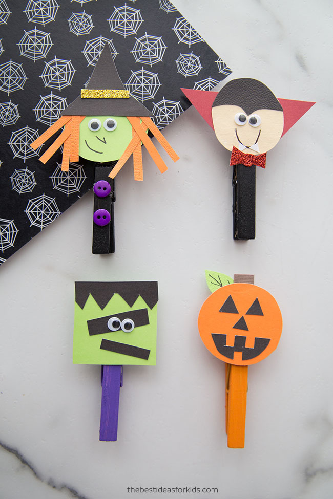Halloween Clothespins Craft