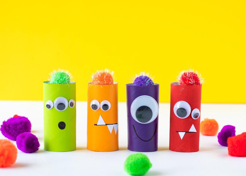 Image result for toilet paper roll crafts monster