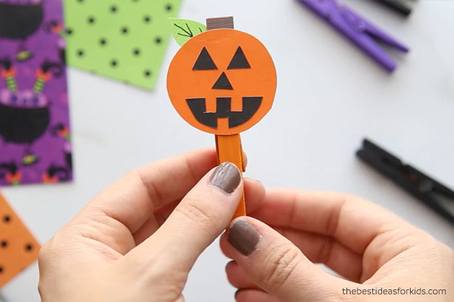 Pumpkin Clothespin