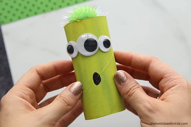 Toilet Paper Roll Monster DIY