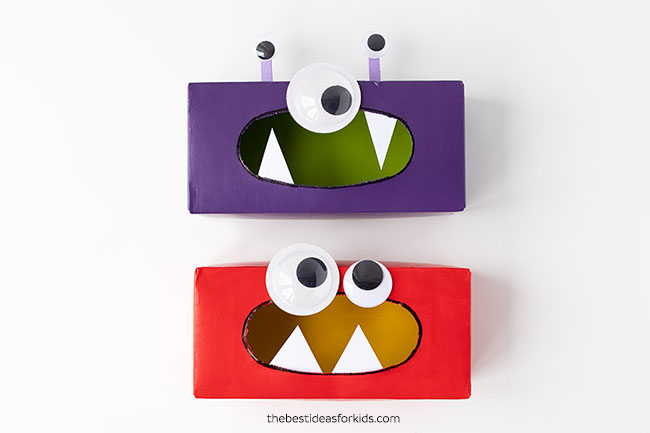 Add Teeth to Tissue Box Monster