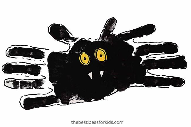 Bat Handprint Art