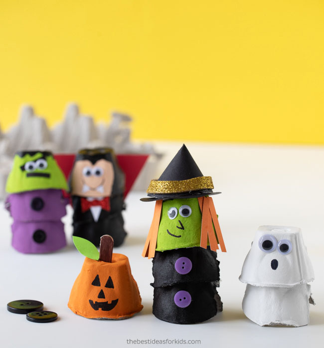 Egg Carton Halloween Crafts for kids