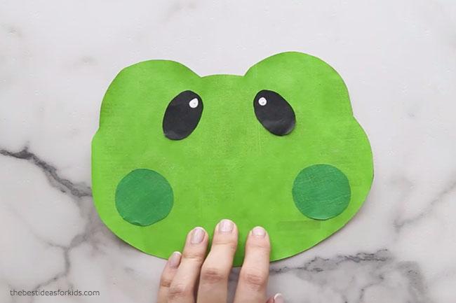 Frog Newspaper Craft for Kids