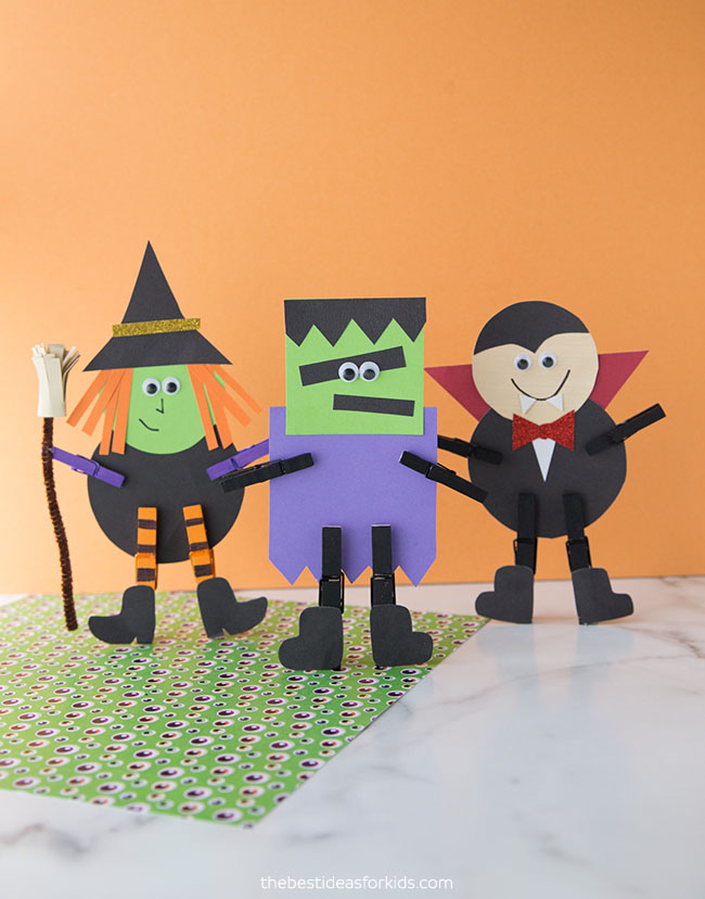 Halloween Character Clothespin Craft