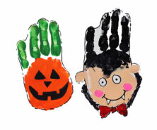 Halloween Handprint Art