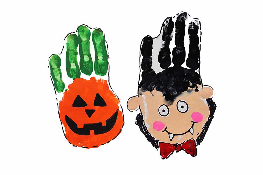 Halloween Handprint Art Craft Ideas The Best Ideas For Kids