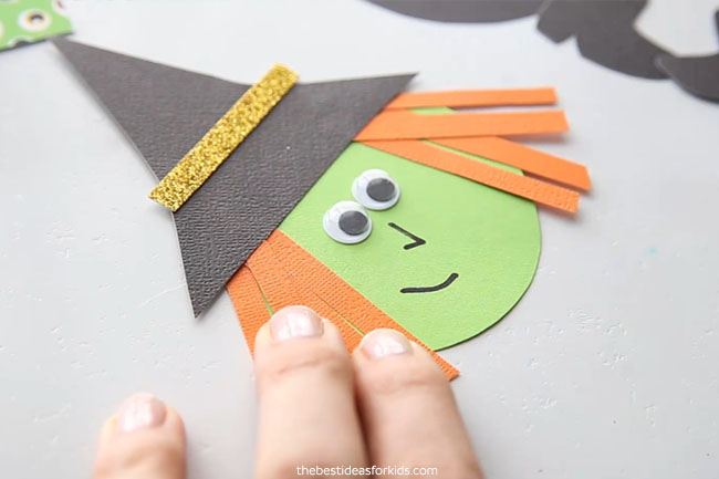 Make Witch Head for Clothespin Craft