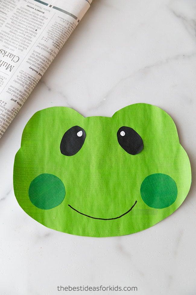 Newspaper Frog Craft