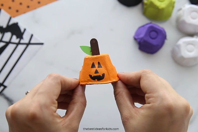 Pumpkin Egg Carton Craft