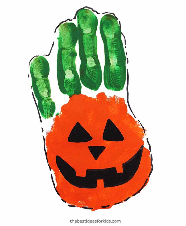 Pumpkin Handprint Craft