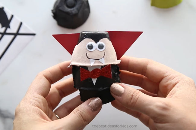 Vampire Egg Carton Craft