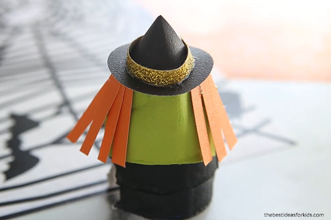 Witch Egg Carton Craft Make Hair