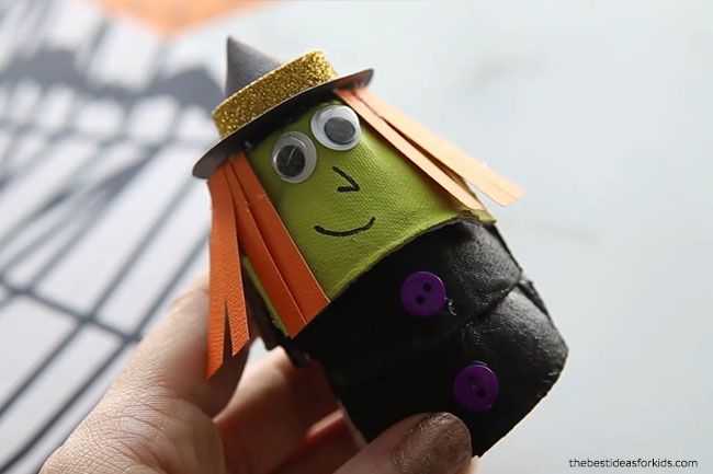 Witch Egg Carton Craft