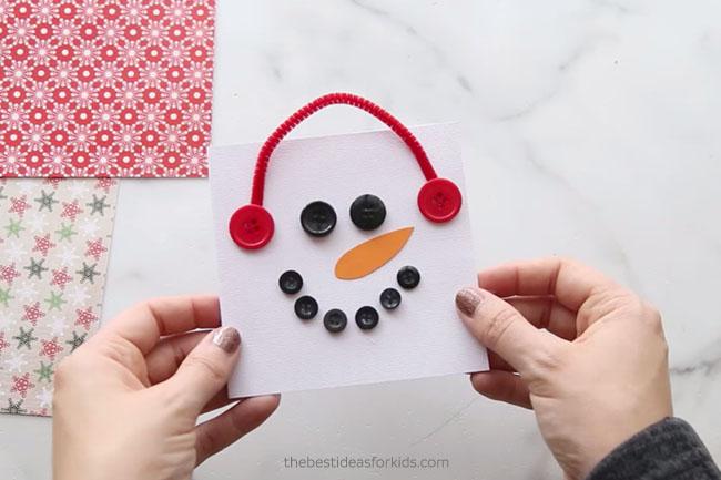 Button Snowman Card