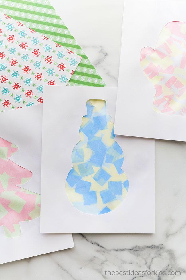 Christmas Bleeding Tissue Paper Art