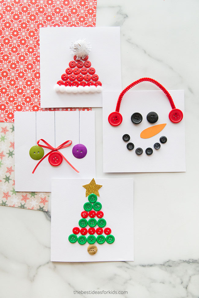 Christmas Button Cards