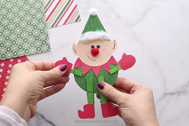 Clothespin Elf Craft