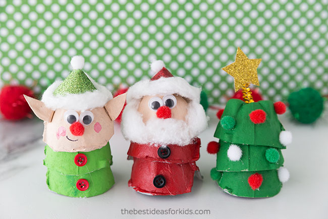 Egg Carton Christmas Crafts