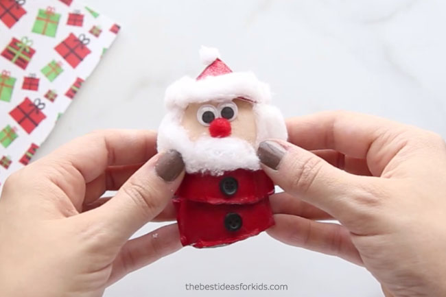 Egg Carton Santa Craft
