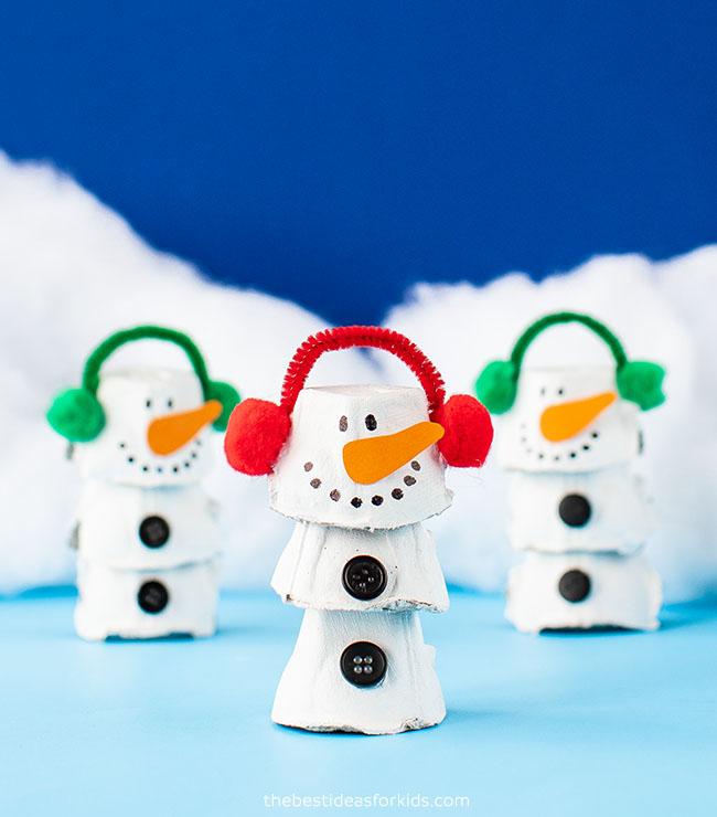 Egg Carton Snowman The Best Ideas For Kids
