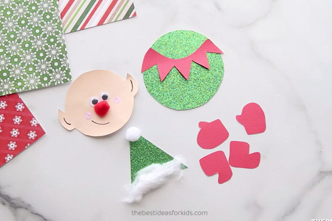 Elf Craft Template Clothespin Craft