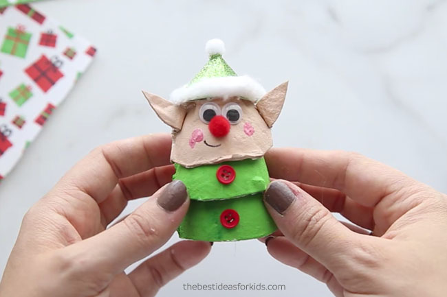 Elf Egg Carton Craft