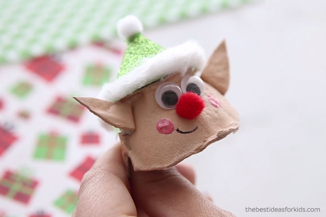 Elf Egg Carton Face