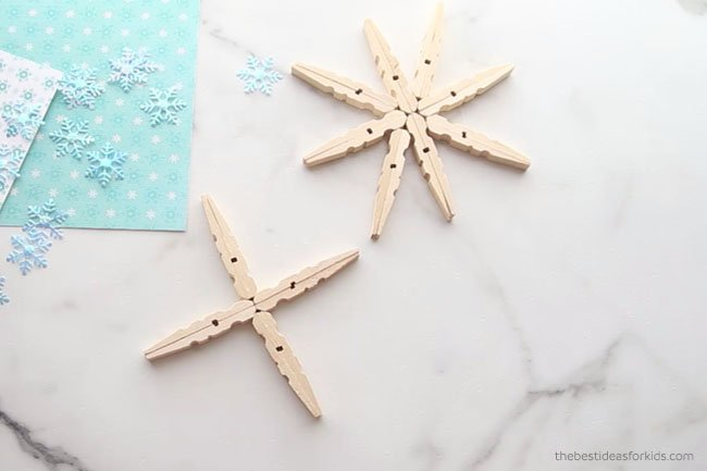 Glue 4 Clothespins Together
