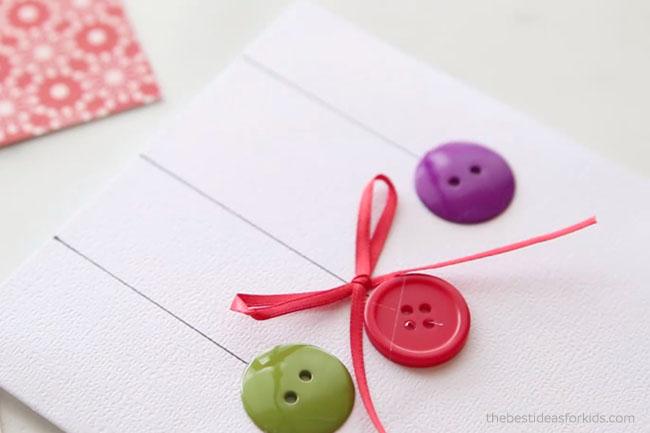 Glue Ribbon on Ornament Card