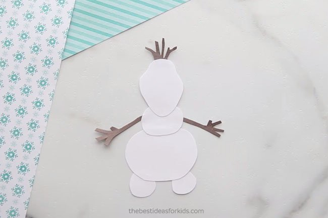 Glue on Olaf Arms