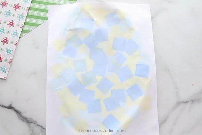 Let Tissue Paper Christmas Art Dry
