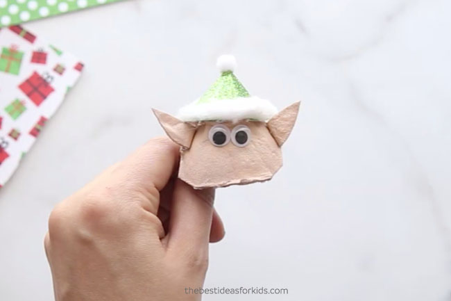 Make Elf Egg Carton