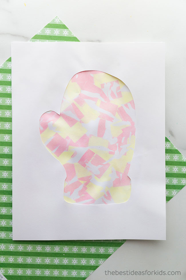 Mitten Bleeding Tissue Paper Art