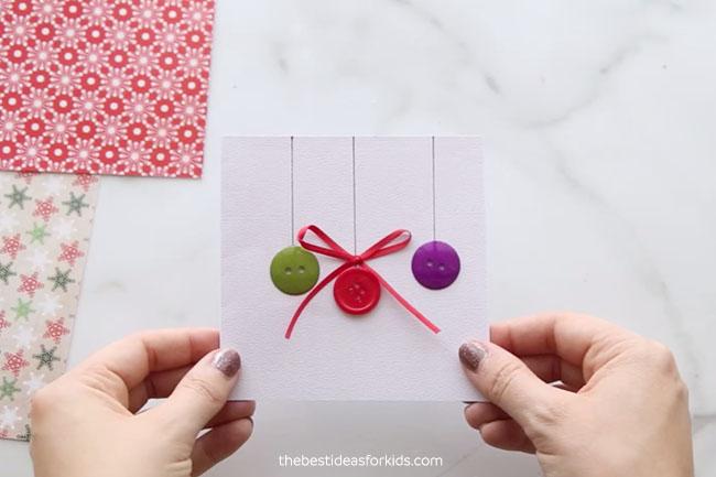 Ornament Button Card