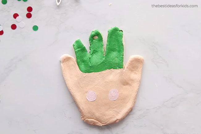 Paint Elf Handprint Ornament