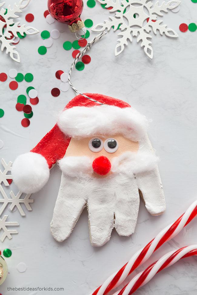 Salt Dough Santa Handprint