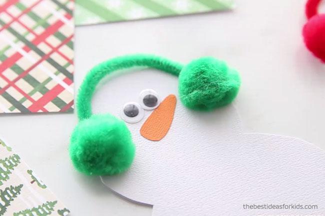Snowman Card Add Googly Eyes