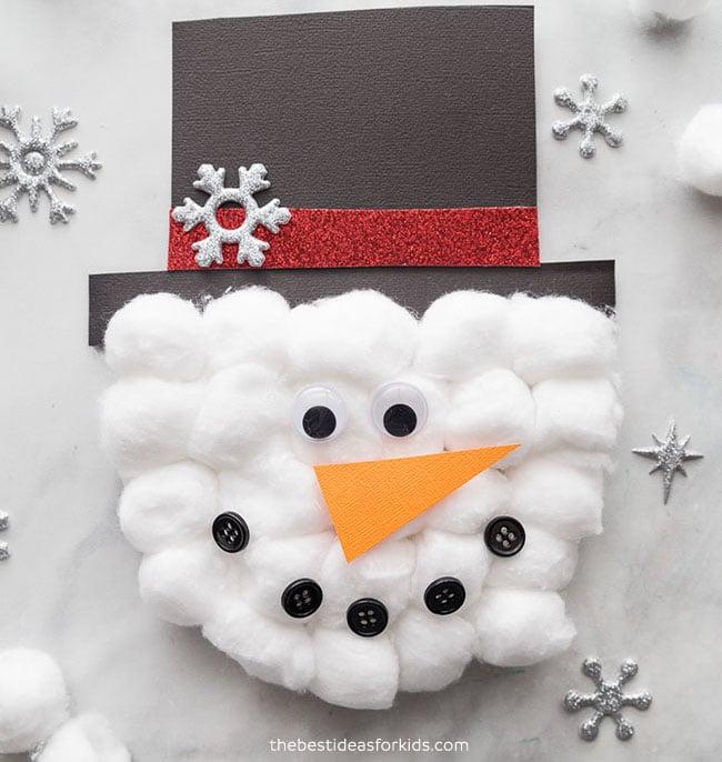 Snowman Card Craft for Kids