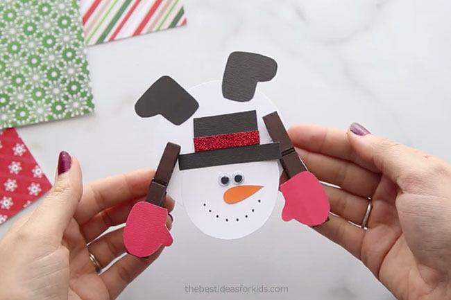 Snowman Clothespin Kids Craft