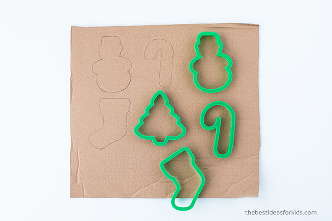 Trace Cookie Cutters for Cardboard Ornaments