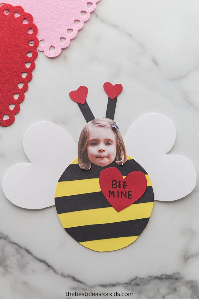 Bee Valentine Craft for Kids